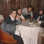 1977 09 27  presentación equipo rest. Guriajugadores3 29-9-1977 Bardeci, Gallastegui, Lizarralde, K. Beaskoetxea, Sinde