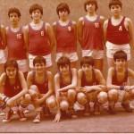 1979-80. Maristas alevín 1979-80 campeón liga, copa, PIN y Bourdeaux