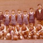1979-80. Maristas alevín El Salvador campeón liga, copa 2ª catg