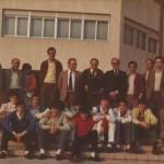 1981-82. Maristas infantil recibimirento en el G.V.