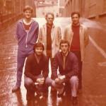 1983-84. Entrenadores Maristas. Patxi Vega, Esteban Villalba, fernando Adan, Jeús Ituiño