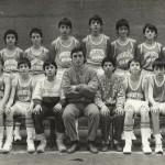 1985-86. Maristas Pre-infantil  campeón liga, copa y Bourdeaux