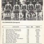 1985 mayo Campeonato de España Junior - Bilbao -CAI Zaragoza