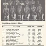 1985 mayo Campeonato de España Junior - Bilbao -Caja Bilbao