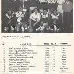 1985 mayo Campeonato de España Junior - Bilbao -Claret