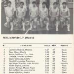 1985 mayo Campeonato de España Junior - Bilbao -Real Madrid