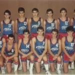 1986-87. PATRO Maristas cadete Campeón Liga y campeón Euskadi 2º se