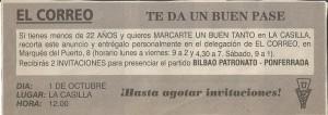 19951001 Correo anuncio invitaciones