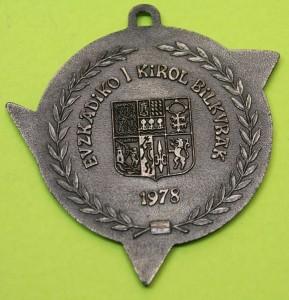 1978 I Juegos de Euskadi - I Kirol Bilkura. Medalla de Plata a